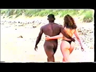 beach  interracial  woman