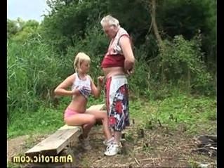 girl  grandpa  old man