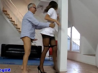 european  nurse  old man