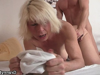 blonde  doggy  grandma