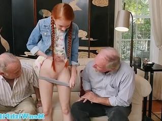 fuck  old man  redhead