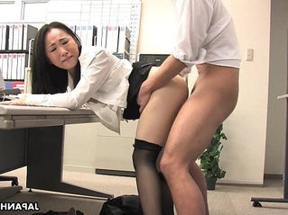 asian   lady   office