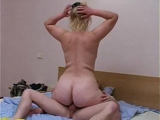 blonde  mom  son